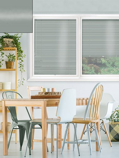 Gloss Military Grey 25mm Perfect Fit Venetian Blind