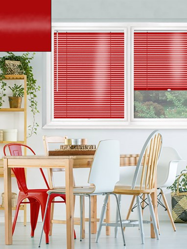Gloss Red 25mm Perfect Fit Venetian Blind