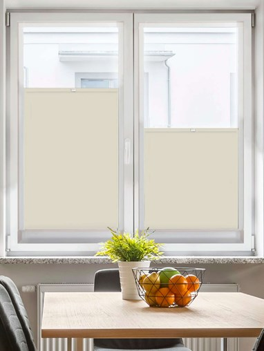Perfect Fit Blackout Beige Bottom Up Blind