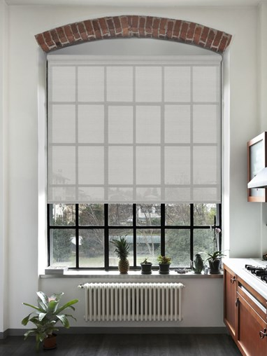 Pewter 5% Sunscreen Electric Roller Blind