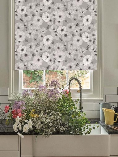 Posy Stone Electric Roller Blind by Lorna Syson