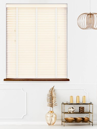 Quill Real Wood Venetian Blind With Cloud Tapes