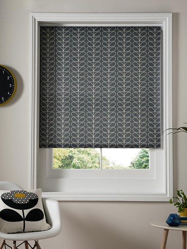 Orla Kiely Express Linear Stem Cool Grey Roller Blind