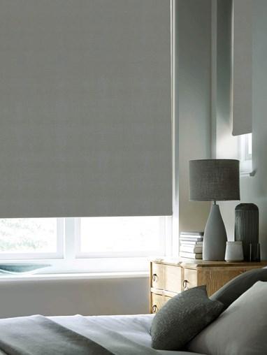 Elegant Grey Premium Blackout Electric Roller Blind