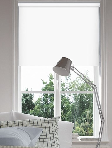Bright White Blackout Thermal Roller Blind