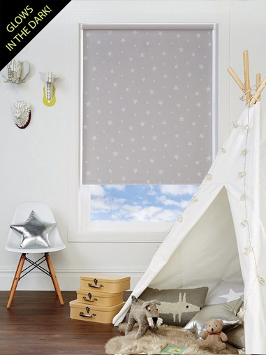 Glow In The Dark Stars Blackout Electric Roller Blind