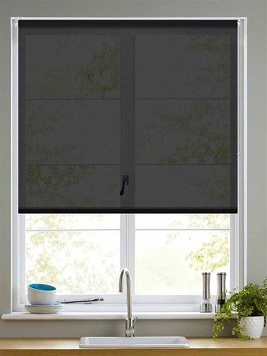 Sheer Black Roller Blind