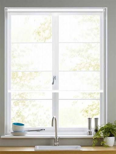 Sheer White Roller Blind