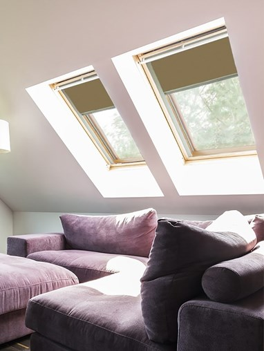 Classic Toffee Crunch Blackout Skylight Blind To Fit RoofLite Windows