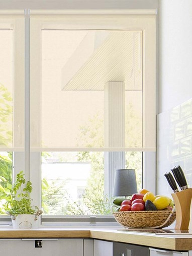 Sheer Cream Electric Roller Blind