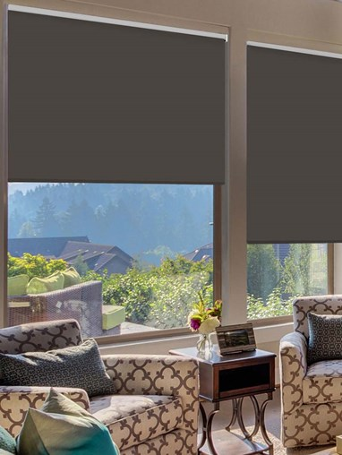 Soot Extra Large Electric Roller Blind