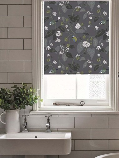 Spring Ivy Slate Electric Roller Blind by Lorna Syson