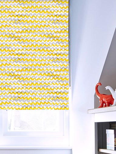 Squiggles Sunshine Blackout Roller Blind