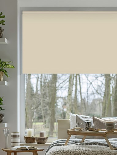 Stone Grey Blackout Electric Roller Blind