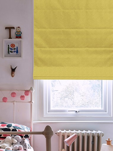 Tribeca Chartreuse Blackout Roman Blind