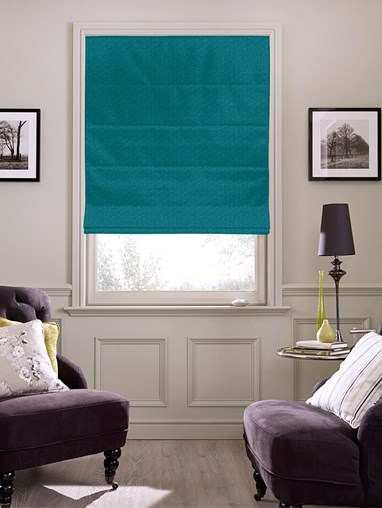 Tribeca Kingfisher Blackout Electric Roman Blind