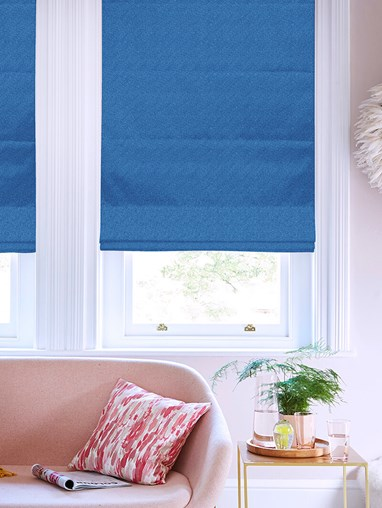 Tribeca Nautical Blackout Electric Roman Blind