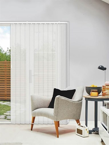 Horizon Chalk 89mm Sunscreen Vertical Blind