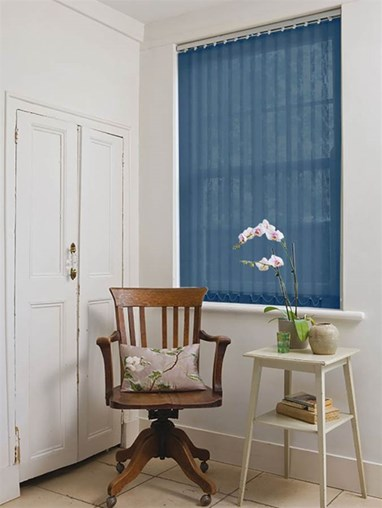 Navy Blue 89mm Sheer Vertical Blind
