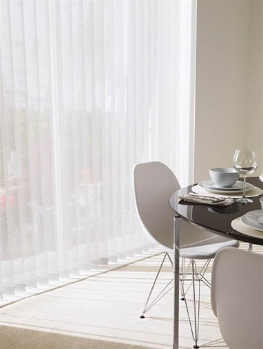 White 89mm Sheer Vertical Blind