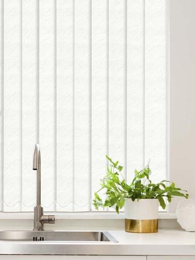 Carrara White Waterproof 89mm Vertical Blind Replacement Slats