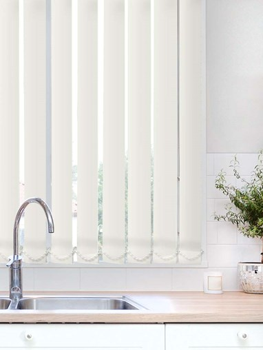 Pearl Plain Waterproof 89mm Vertical Blind Replacement Slats