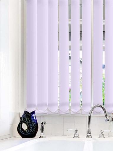 Lilac Plain Waterproof 89mm Vertical Blind Replacement Slats