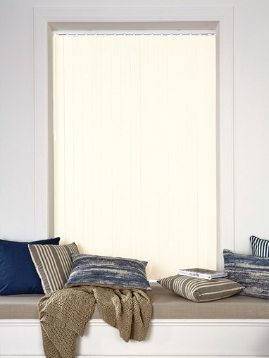 Ivory Blackout 89mm Vertical Blind Replacement Slats