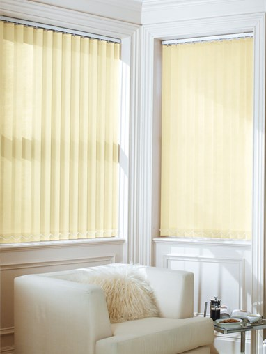 Soft Tan 89mm Dim-Out Vertical Blind