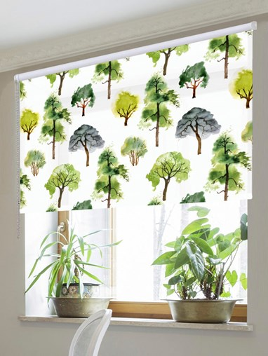 Walking The Grounds Floral Roller Blind