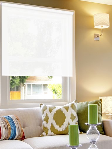 Sunscreen White 1 Percent Electric Roller Blind