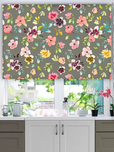 Wildflower Dusk Floral Roller Blind