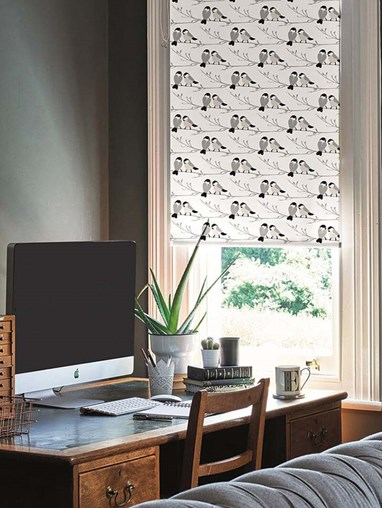 Willow Tit Electric Roller Blind by Lorna Syson