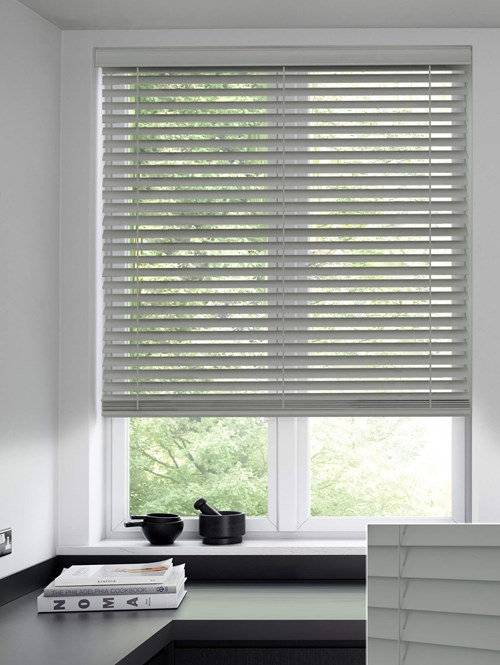Armadillo 50mm Wooden Electric Venetian Blind