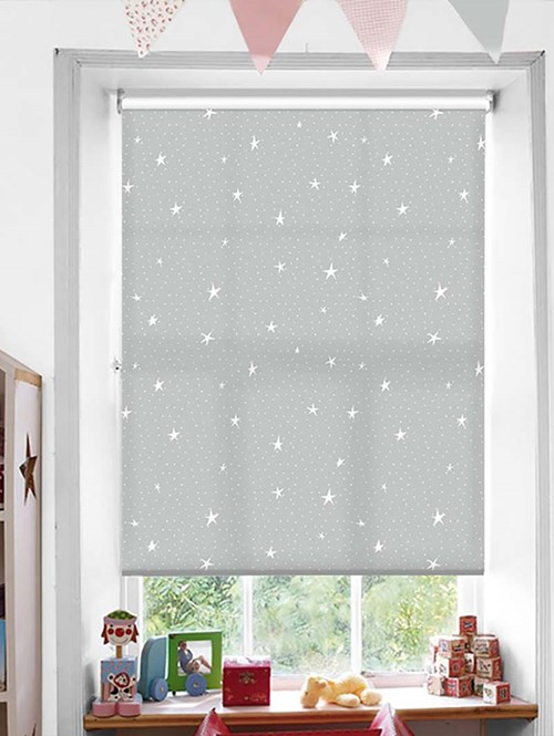 Astral Grey Patterned Daylight Electric Roller Blind