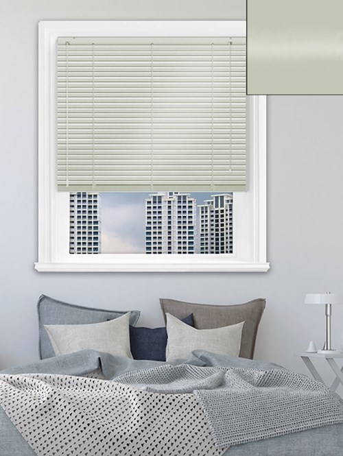 Gloss Light Grey 25mm Aluminium Venetian Blind