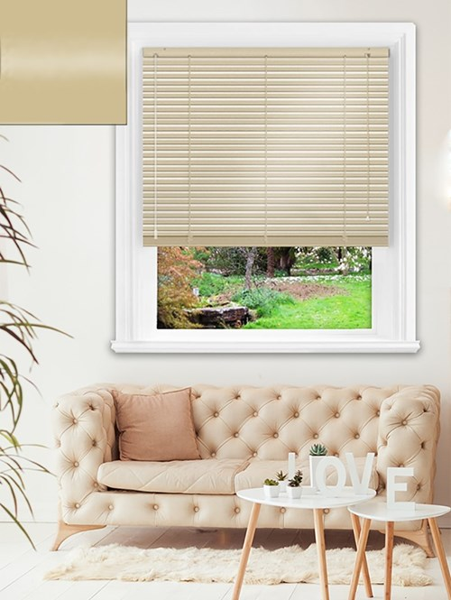 Gloss Harvest 25mm Aluminium Venetian Blind
