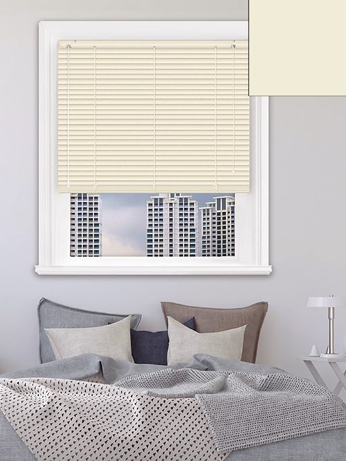 Matte Cream 25mm Aluminium Venetian Blind