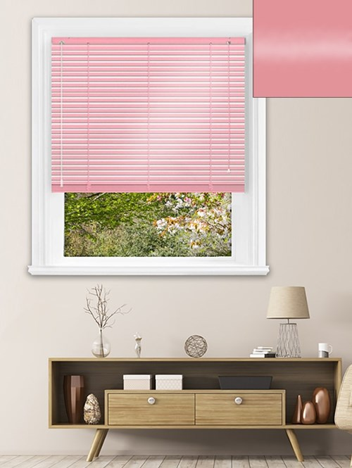 Gloss Pink 25mm Aluminium Venetian Blind