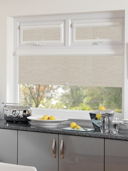 Blackout Grey Linen Perfect Fit Roller Blind