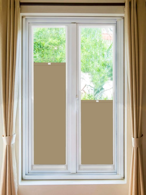 Perfect Fit Blackout Natural Bottom Up Blind