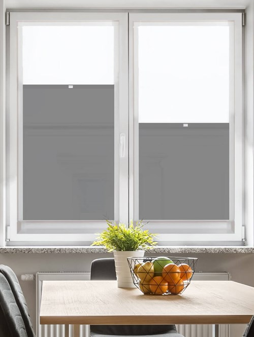 Perfect Fit Dim-Out Ash Bottom Up Blind
