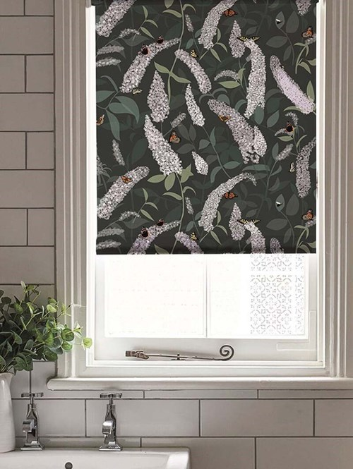 Buddleia Electric Roller Blind by Lorna Syson