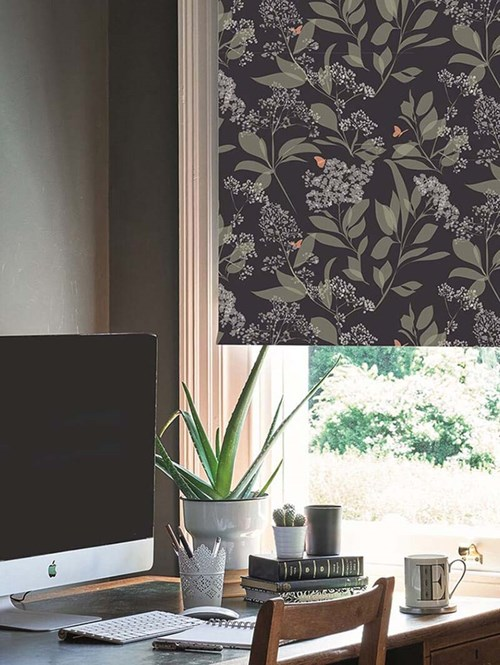 Buds and Butterflies Electric Roller Blind by Lorna Syson