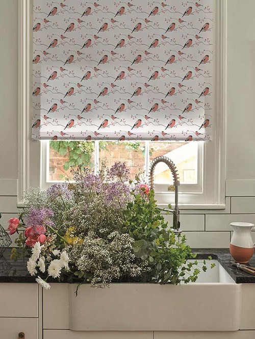 Bullfinch Electric Roller Blind by Lorna Syson