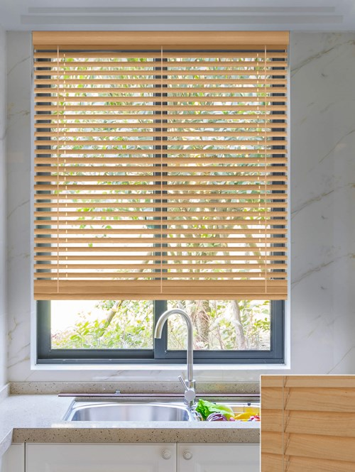 Chalet 50mm Wooden Electric Venetian Blind