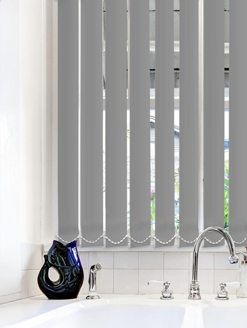 Light Filtering Charcoal 89mm Fire Retardant Vertical Blind