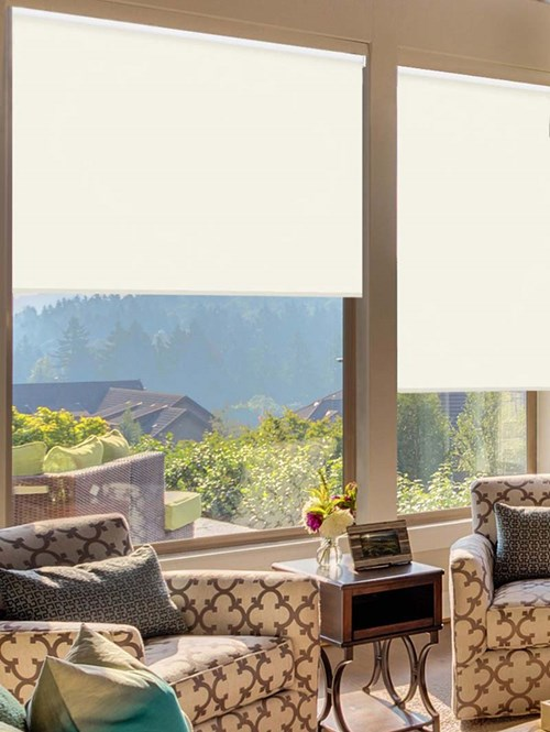 Cotton Extra Large Electric Roller Blind