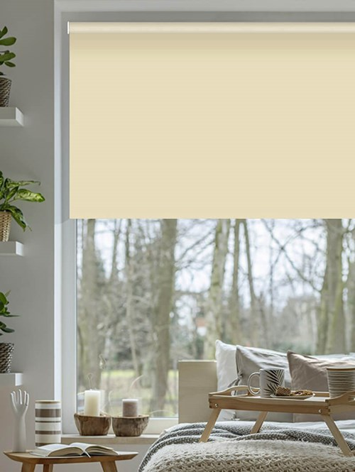 Cream Blackout Electric Roller Blind