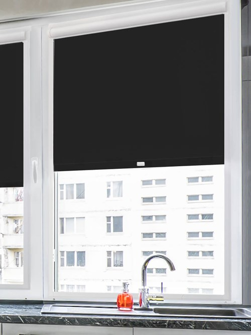 Daylight Deep Black Perfect Fit Roller Blind